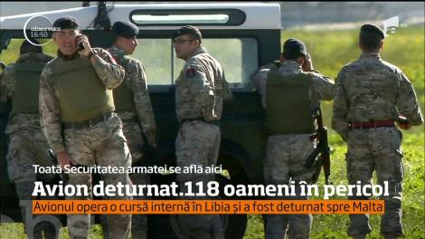 Avionul care opera o cursă în Libia a fost deturnat spre Malta