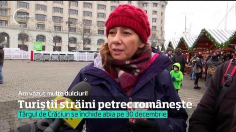 Sute de turişti de peste hotare au ales să-l aştepte pe Moş Crăciun în Bucureşti