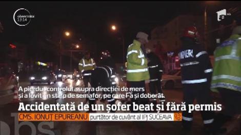 Un bărbat din Suceava a fost la un pas să provoace o tragedie, după ce s-a urcat beat la volan