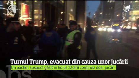 Turnului Trump din New York, evacut din cauza unui pachet suspect