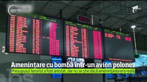 Ameninţare cu bombă într-un avion polonez