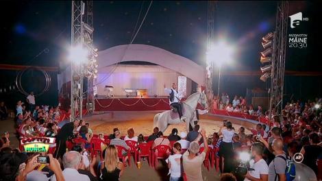"""Giani Kiriţă, călare pe cal, la circ: """"Am avut şi un costum gen Benone Sinulescu"""""""
