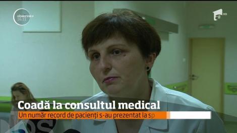 Un număr record de pacienți s-au prezentat la spitalul județean din Iași