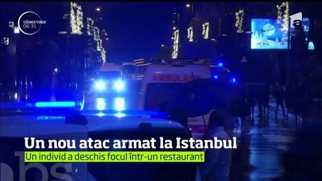 Un nou atac a avut loc în Istanbul! Un individ a rănit două persoane într-un restaurant