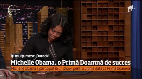 O ultimă apariţie în postura de Prima Doamnă a Americii de senzaţie! Michelle Obama a făcut spectacol într-o emisiune TV