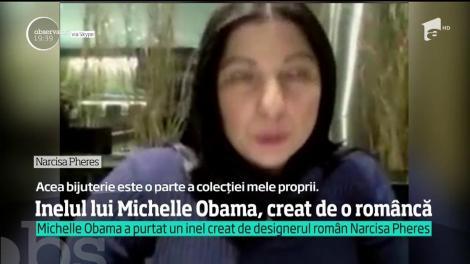 Michelle Obama a purtat un inel creat de designerul român Narcisa Pheres