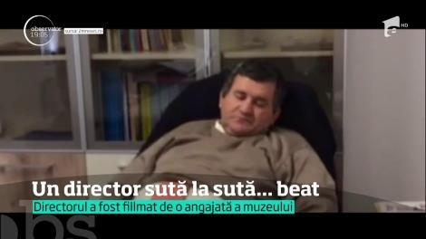 Directorul interimar al Muzeului de Etnografie din Baia Mare, filmat după ce parafase o colaboare cu mult alcool