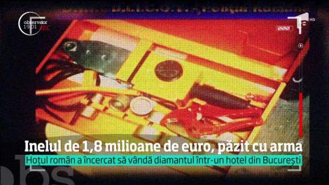 Inelul de 1,8 milioane de euro, furat de un român dintr-un magazin din Paris, este păzit cu arma la Ploiești