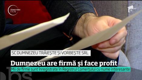 """""""SC Dumnezeu trăiește și vorbește SRL"""" sau """"Usturoi cu Mămăligă Production""""? Cu ce nume își mai înregistrează românii firmele în Registrul Comerțului"""