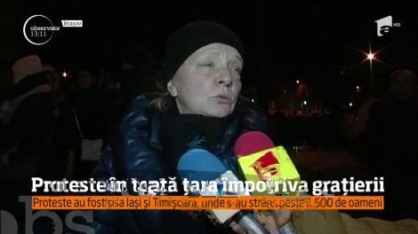 Proteste în toată țara împotriva grațierii. La Ploiești și Brașov, sute de oameni au ieșit în stradă