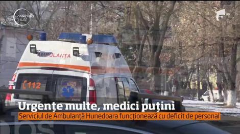 Urgențe multe, medici puțini. Serviciul de Ambulanță Hunedoara funcționează cu deficit de personal