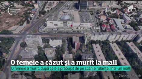 O femeie în stare critică la spital, după ce a căzut de la ultimul etaj, într-un mall din Capitală