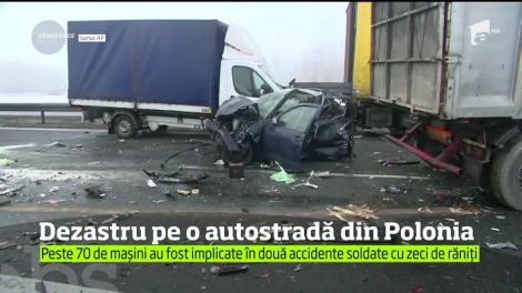 76 de mașini au fost implicate într-un carambol violent pe o autostradă din Polonia