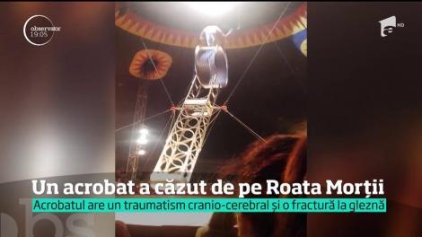 Un acrobat-zburător de la Circul Globus s-a prăbuşit de opt metri chiar sub ochii spectatorilor