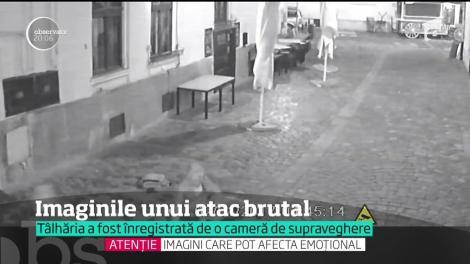 Un clujean a fost surprins pe camere în timp ce a căzut victima unei tâlhării violente