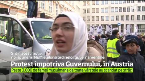 Protest împotriva Guvernului, în Austria