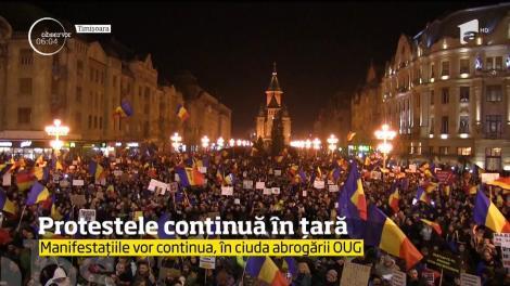 Proteste în ţară. Peste 250.000 de români au ieşit din nou în stradă