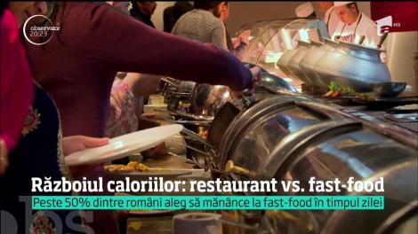 Războiul caloriilor: restaurant vs. fast-food