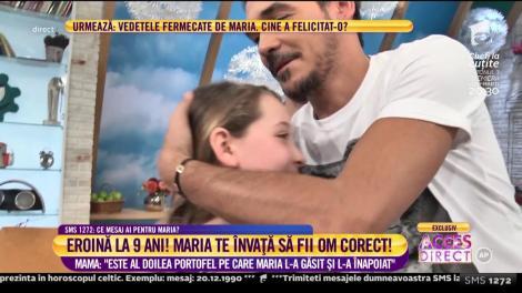 Maria, mica eroină, a fost în culisele emisiunii Neata cu Răzvan și Dani