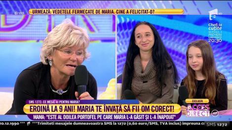 """Mama eroinei """"Este al doilea portofel pe care Maria l-a găsit și l-a înapoiat"""""""