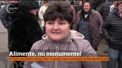 A fost revoltă în Arad, într-o piață care urmează să fie desființată