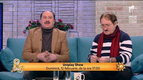 """Se anunță show de zile mari! Romică Ţociu şi Cornel Palade vor prezenta Uniplay Show: """"Pe 12 februarie începem de la 17:00"""": """"Ne-a cam luat ameţeala când am văzut premiile"""""""