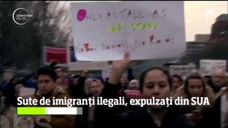 Sute de imigranți ilegali, expulzați din SUA