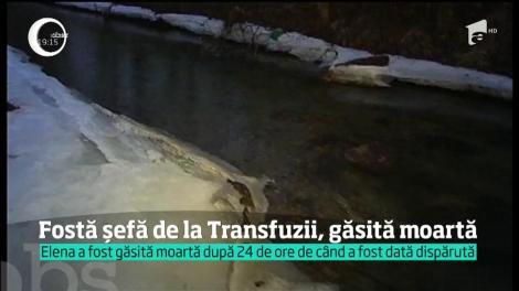 Fosta directoare a centrului de transfuzii din Cluj-Napoca, găsită moartă lângă râul Someşul Rece