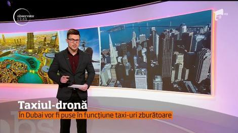 Taxiul-dronă. În Dubai vor fi puse în funcțiune taxi-uri zburătoare
