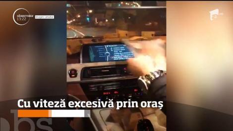 Un şofer a fost filmat cum mergea prin oraş cu o viteză de 165 de kilometri la oră