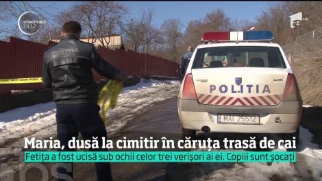 Maria, fetiţa de trei ani din Bacău ucisă de unchi pentru că plângea, a fost înmormântată