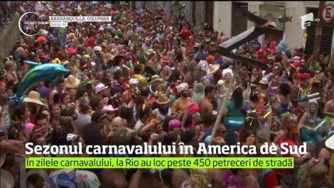 Carnavalul este în plină desfăşurare la Rio de Janeiro