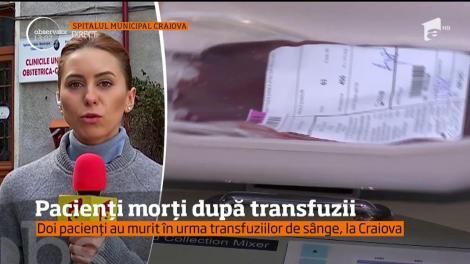 Doi pacienți au murit după o transfuzie de sânge
