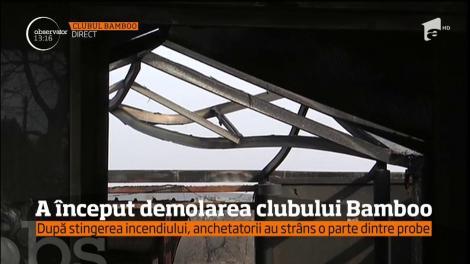 A început demolarea clubului Bamboo
