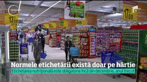 Etichetarea alimentelor nu se respectă, deși este obligatorie încă de anul trecut