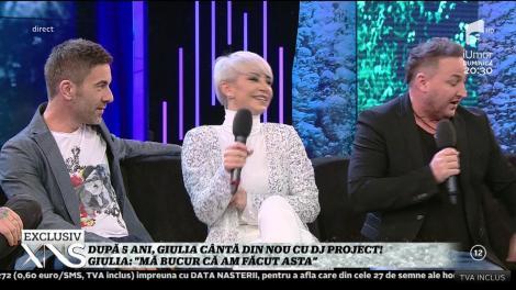 După cinci ani, Giulia cântă din nou cu Dj. Project