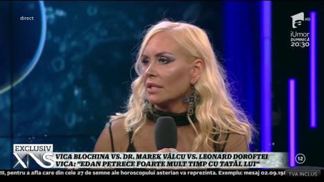 """Vica Blochina: """"Edan petrece foarte mult timp cu tatăl lui"""""""