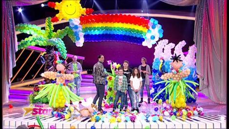 Kira, Ștefan și Karina le-au făcut figurine din baloane lui CRBL și Pepe