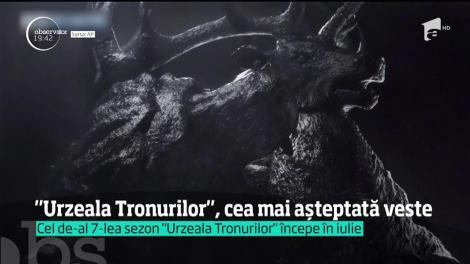 """Data la care debutează noul sezon """"Urzeala Tronurilor"""""""