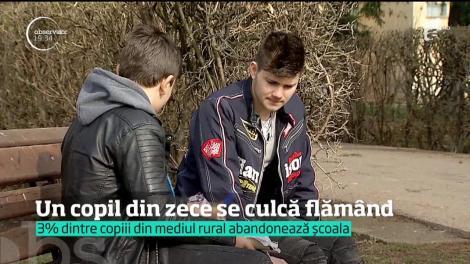 În România, 200 de mii de copii merg în fiecare seară la culcare flămânzi
