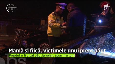 Un preot s-a urcat băut la volan şi a fost la un pas să ucidă o mamă şi pe fiica ei