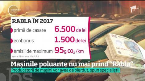 Maşinile cu motoare mari nu vor mai fi eligibile pentru programul Rabla