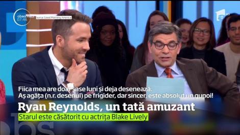 """Ryan Reynolds, un tătic amuzant: """"Mai bine aş bea un bol cu rabie lichidă în clocot, decât să mă urc în avion cu cei doi copii ai mei"""""""