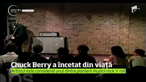 Legendarul rocker Chuck Berry a încetat din la vârsta de 90 de ani