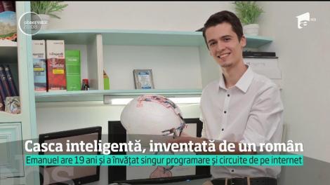 Cu multă pasiune şi o investiţie de numai 50 de euro, un român genial de 19 ani a inventat o cască inteligentă, ce poate salva vieţi. Tânărul român a învăţat singur programare, de pe internet