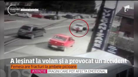 Accident grav în Târgu Jiu, provocat de un bărbat căruia i s-a făcut rău la volan