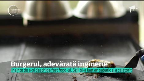 Burgerii, slăbiciunea din bucătărie! Un tânăr din Baia Mare a dat ingineria pe fast food. Acum, este cunoscut în tot orașul