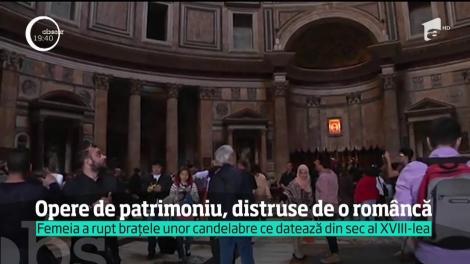 Româncă, cercetată în Italia după ce a distrus opere de artă vechi de secole
