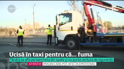 Clienta unui taximetrist a murit într-un accident pentru că nu purta centură şi fuma