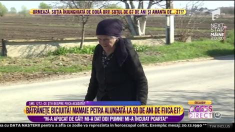 """Caz înfiorător petrecut în România. Alungată la 90 de ani de fiica ei: """"M-a apucat de gât! Mi-a dat doi pumni"""" Mi-a încuiat poarta!"""""""